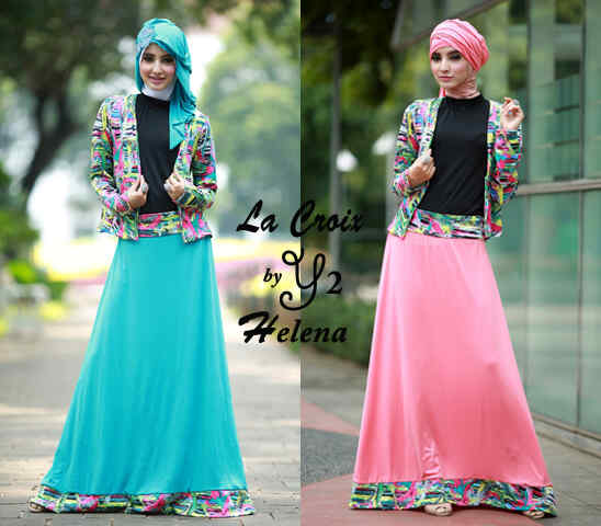 Gamis Remaja Helena Blazer S193 Koleksi Busana Muslimah