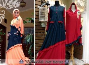 Baju Gamis Vannia Set Bergo Koleksi Busana Muslimah