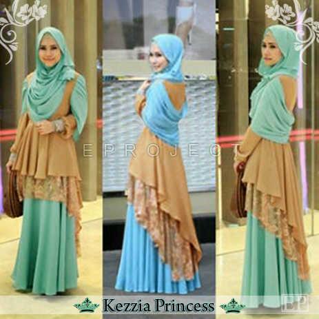 Baju Gamis Kezzia Princess Layer Brokat Koleksi Busana