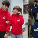 jaket couple puma merah