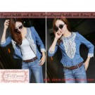 Blazer Denim Renda Vio BJR-104