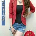 Blazer Jeans Merah + Inner BJ647