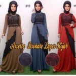 Gamis Layer Brokat Arzetty R109