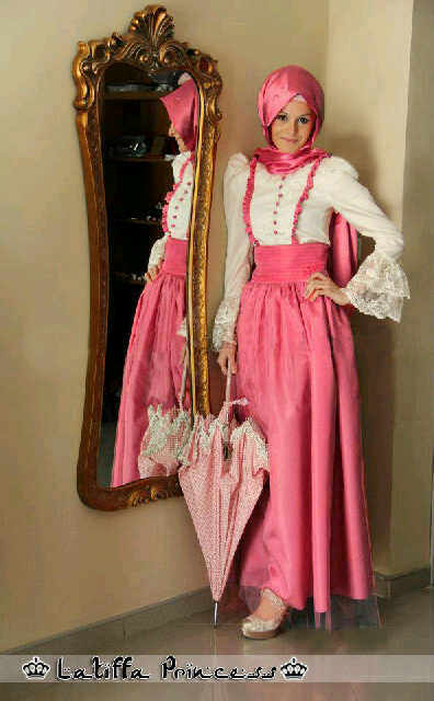 Gamis Pesta Princess Latifa Brokat + tile BJP15