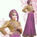 Gamis Satin Princess Violet R117