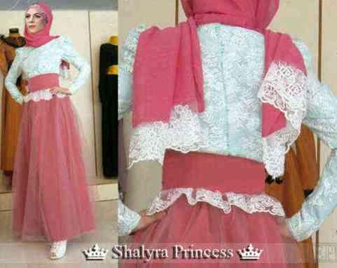 Baju Gamis Kombinasi Brokat Shalyra Princess Model Gaun