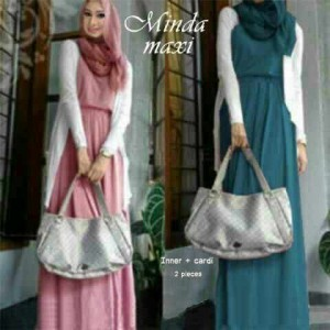 Gamis Modern Minda Maxi Model Busana Muslim Long Dress