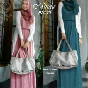 Gamis Modern Minda Maxi Model Busana Muslim Long Dress