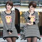 K31 Kaos Stripe Giorgina Hitam Putih