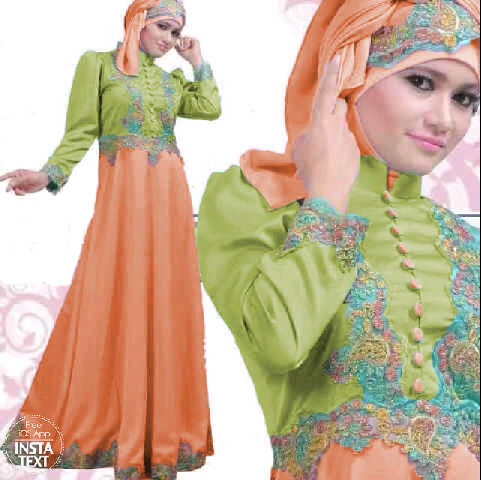 Gamis Satin Princess Green S39