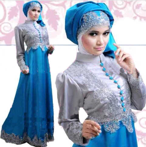 S41 Satin Princess Abu-abu Biru