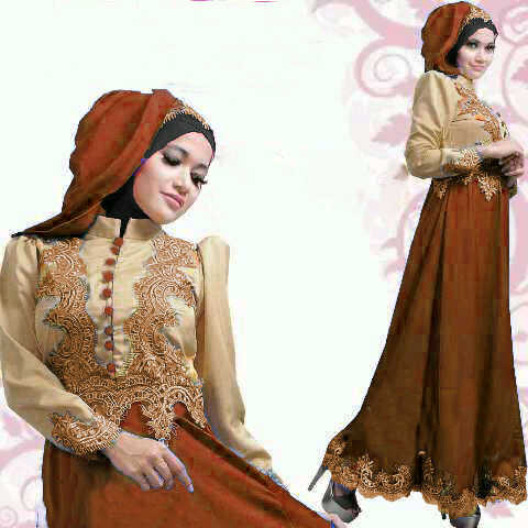 S53 Gamis Satin Princess Honey