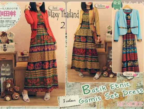 maxi etnik batik rayon thailand