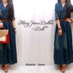 G202 Maxi jeans button + belt