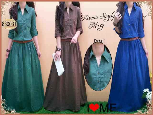 G203 Maxi jeans gradasi +belt. Ori MOST