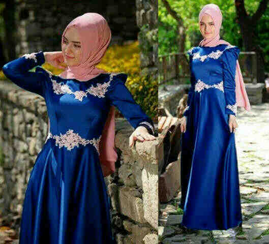 G61 Miss Pricillia Blue Gamis