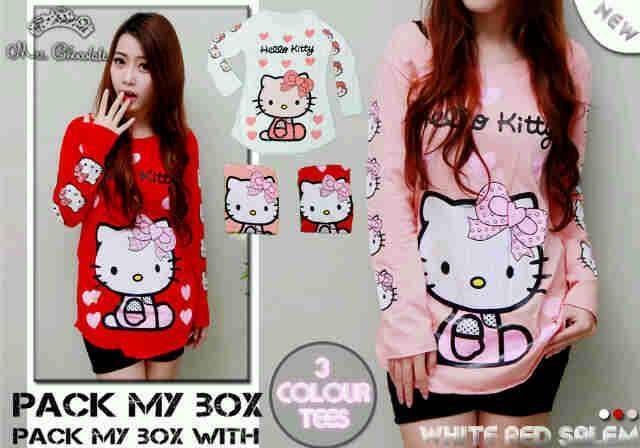 HK91 Kaos Cewek Hello Kitty