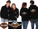 Jaket Couple Harley Davidson Hitam
