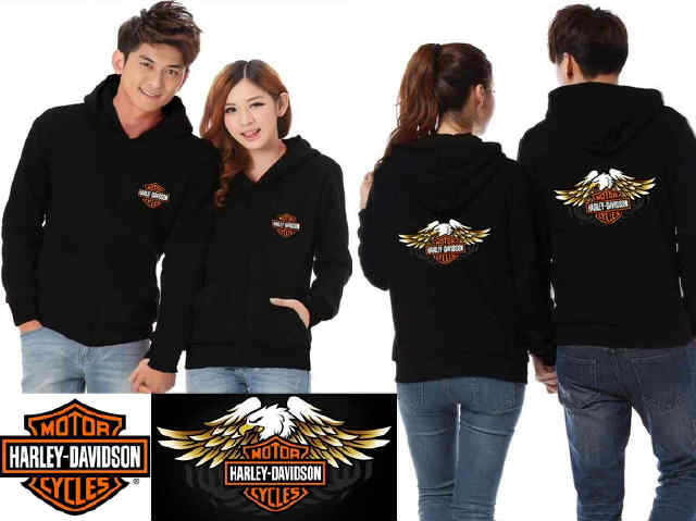 Jaket Couple Harley Davidson Baby Terry