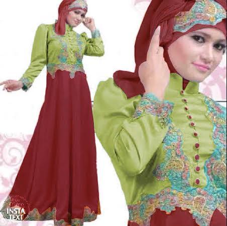 Long Dress Batik Kombinasi Sifon image information