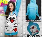 Jaket Cewek Doraemon Fleece