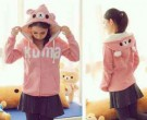 Jaket Kuma Pink Fleece