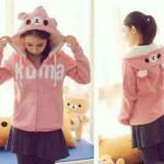 jaket-kuma-pink-fleece