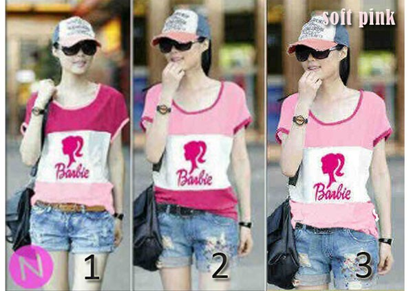 kaos-barbie-stripe
