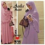 Y275 Aulia Maxi. (Dusty pink, Ungu Lilac) Dress jersey +bergo kriwil+bross Ori MnG