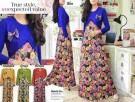 Maxi Dress Motif Bunga Rose G588