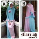 Baju Gamis Set Bergo Marriah Y270