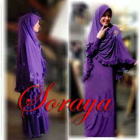 Y230 Soraya Syari Rumbai ungu . Ori AV