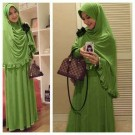 Soraya Green Set Bergo