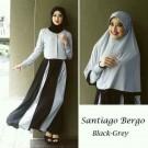 Gamis Set Bergo Santiago Black-Grey Y590