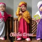 A625 Chicha dress @75rb (3in1- maxi  kutung+cardi+turban) bhn kaos fit 4-6 thn, wrna sesuai pic, ready