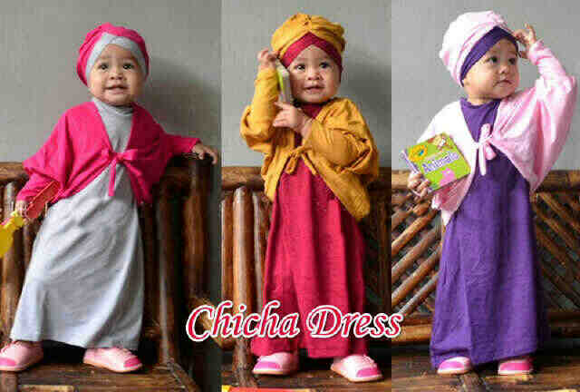 Gamis Anak Chicha Dress A625