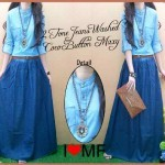 G.630_Maxi jeans gradasi +belt fit L besar_Ori MOST