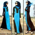 Gamis Miss Blue Black G.603