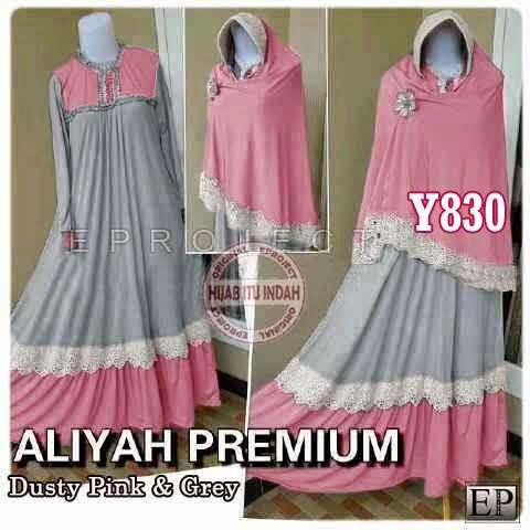 y830 gamis aliyah abu-dusty pink