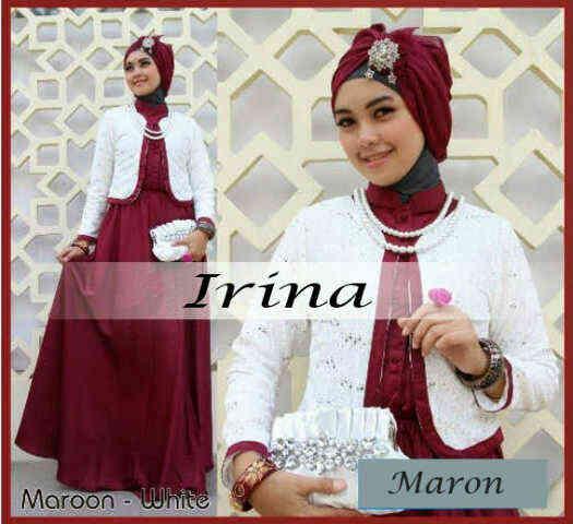 P666 gamis irina maroon