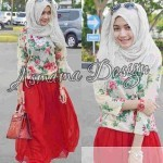 T.774 Aisyah Teen 3in1 (rok+blouse+jilbab instan)