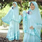 Y768 Dairy Bergo BLUE (XL) @140rb (gamis bag