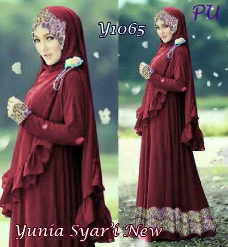 Y1065-Yunia-Bergo-Maroon-New