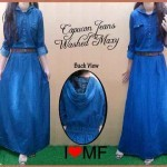 S139 Maxi Jeans Capucon+belt @145rb