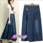 V843 Mango Jeans Skirt @105rb