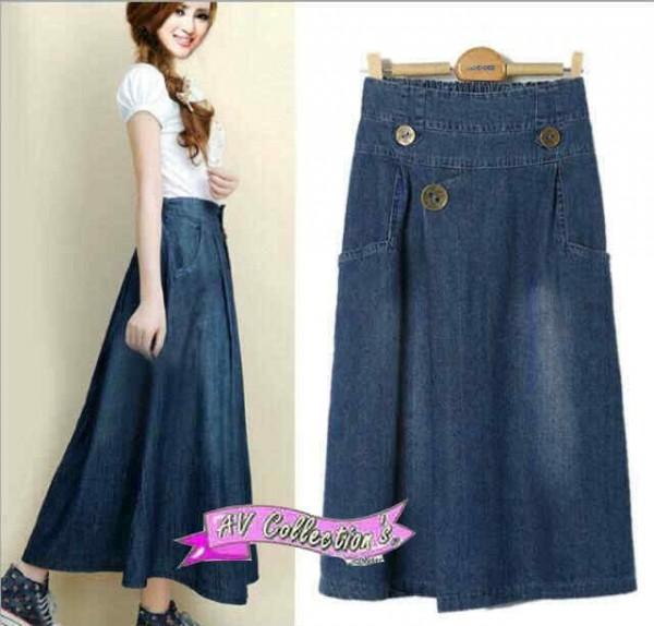 Baju Jeans Wanita, rok jeans, rok wanita