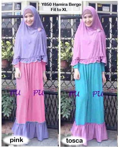 Baju Gamis Bergo Hamira Busui Y850 Xl Model Baju Muslimah Syar I