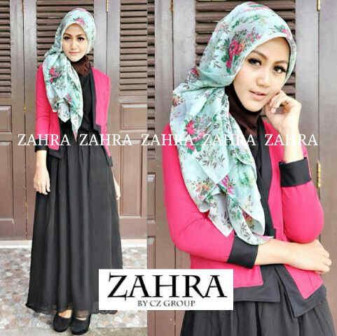 G858 Baju Gamis Modern Thalia Hijab Set