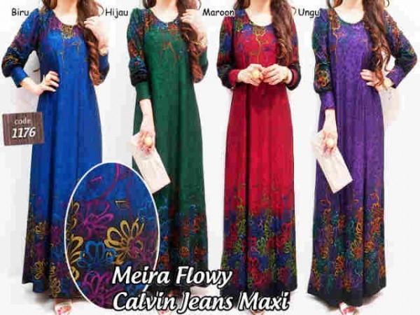 Baju Gamis Remaja Meira Bunga G859 Jual Baju Muslim Online