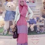 P865 Baju Gamis Remaja Modern Al-Zahira hijab set Blazer